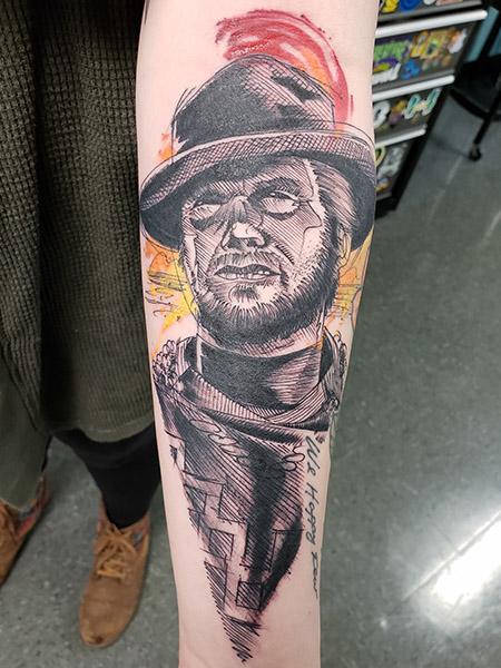Stylized Clint Eastwood