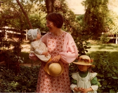 I had an idealistic childhood, but somewhere in my head, my imagination outgrew my size. (Here, I am the babe-in-arms.)