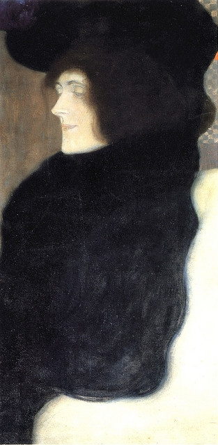 Klimt's painting Pale Face (Blasses Gesicht) 1907