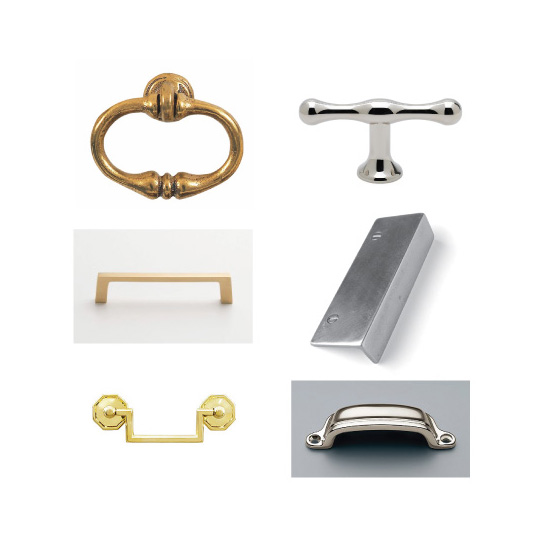 Top Left to Right: The Golden Lion, Waterworks, Schoolhouse Electric, Sun Valley Bronze, House of Antique Hardware, Restoration Hardware