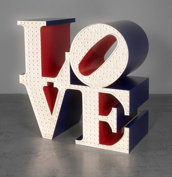 Robert Indiana's The Electric Love 1966/2000