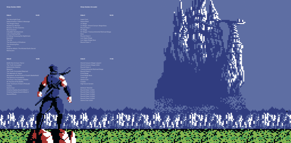 Inner Gatefold for Ninja Gaiden The Definitive Soundtrack Vol. 1.