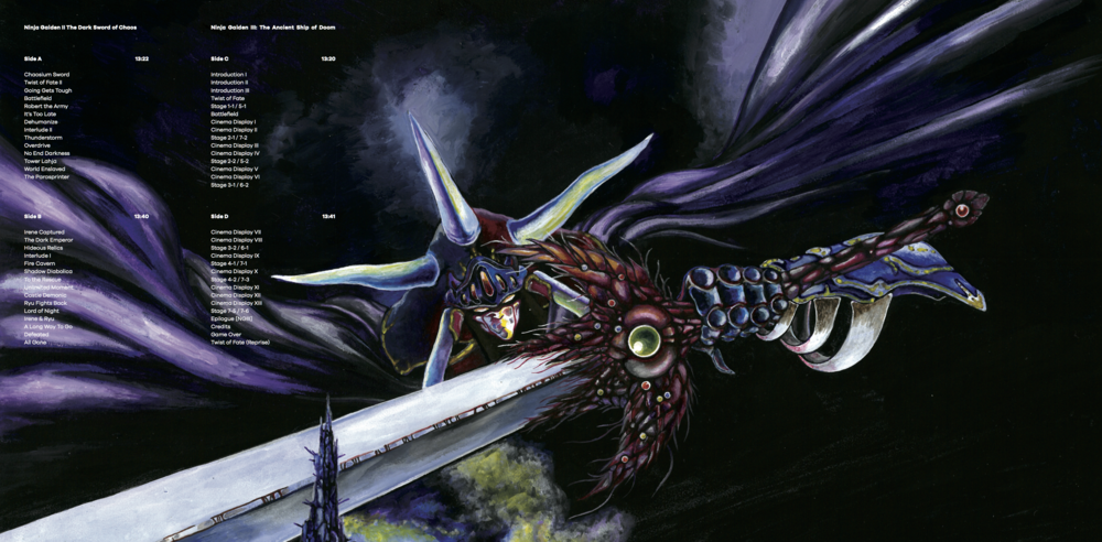 Inner Gatefold for Ninja Gaiden The Definitive Soundtrack Vol. 2.
