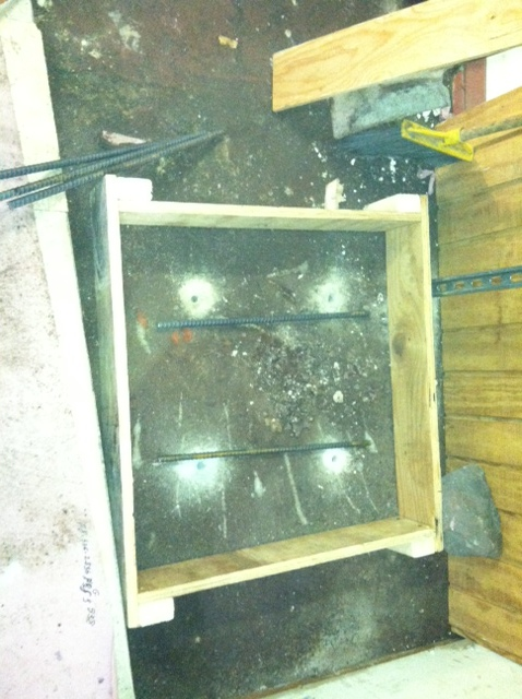 foundation for hot water heater