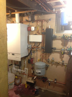 Aymar Street Viessmann Vitodens 200W with Viessmann indirect hot water heater