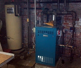 Putnam Steam Boiler Installation, SlantFin