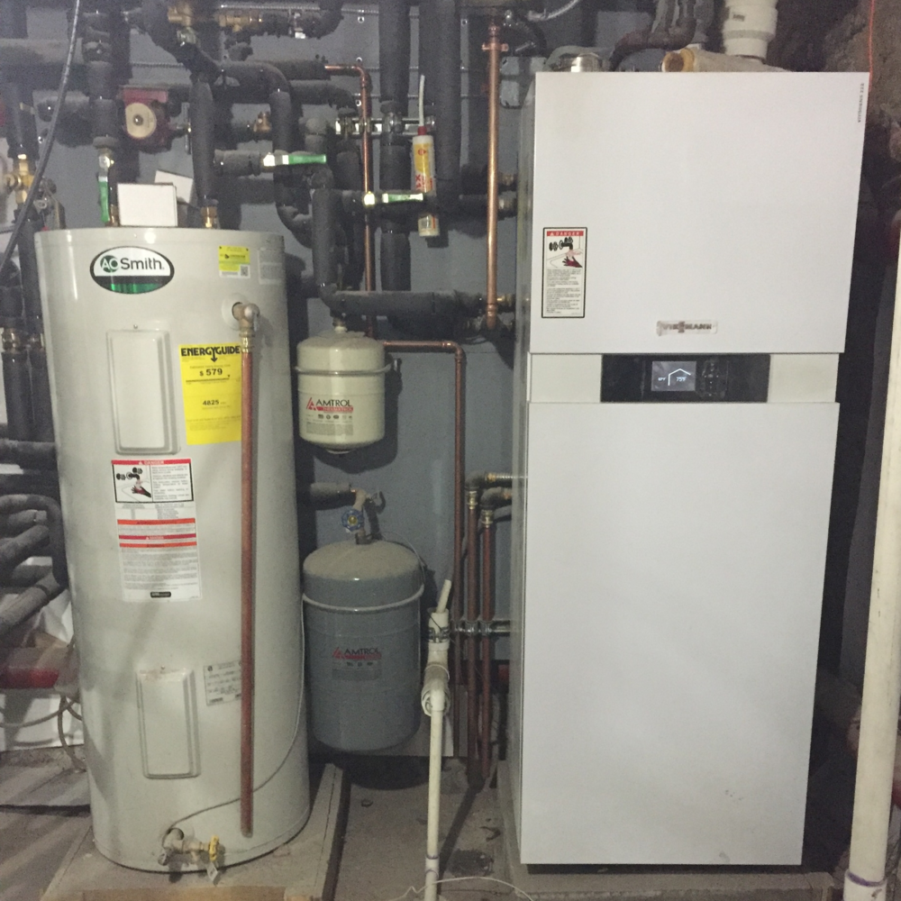 West 122nd street viessmann absolute mechanical co inc - Exterior hot water heater enclosure ...