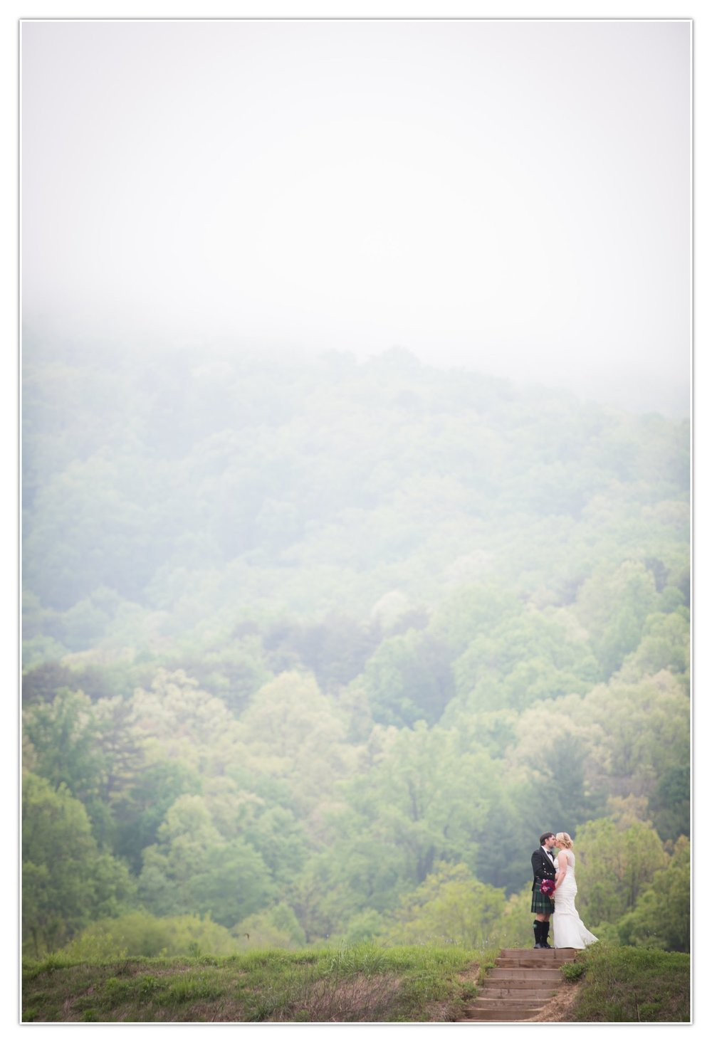 That fog rolling in over the mountains was spectacular. If shooting weddings has taught me one thing, it's to not be afraid of weather. Embrace it...and sometimes, the result is totally worth getting a little bit wet.