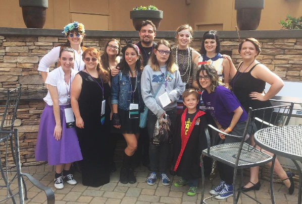 The Ghost Troupe with our winner, Riley, at CONjuration in Atlanta, November 6, 2016
