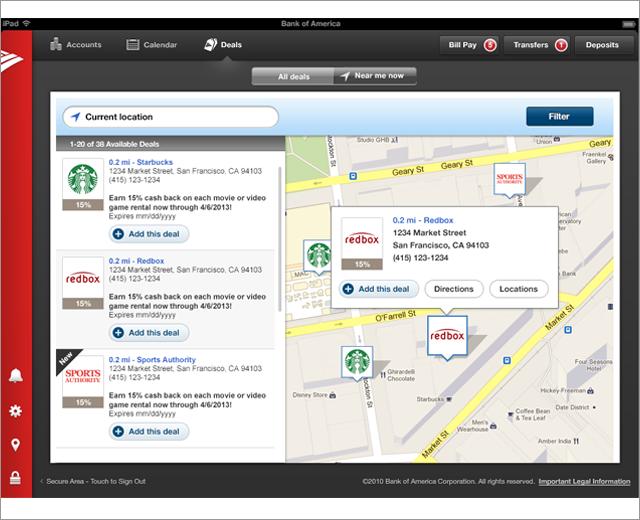 BankAmeriDeals: iPad