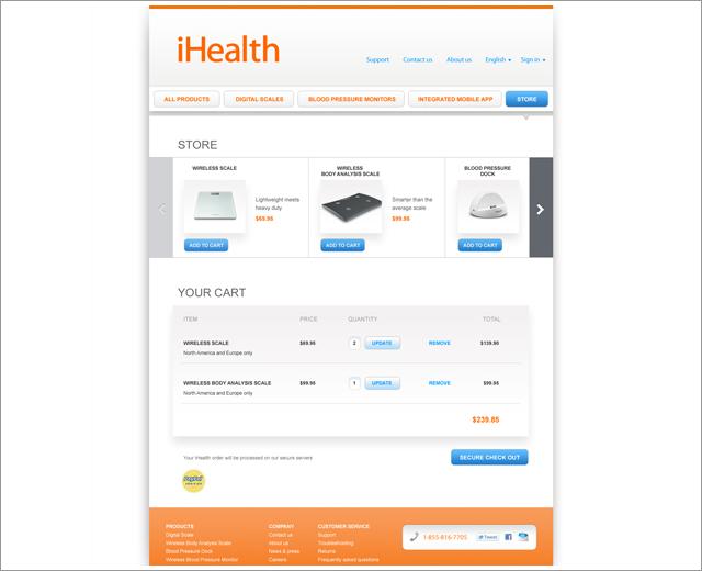 iHealth: store