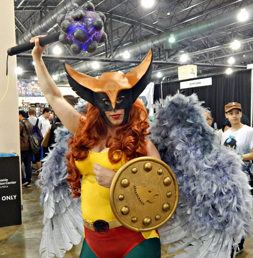 This Hawkgirl was FIERCE. Check out her mace!
