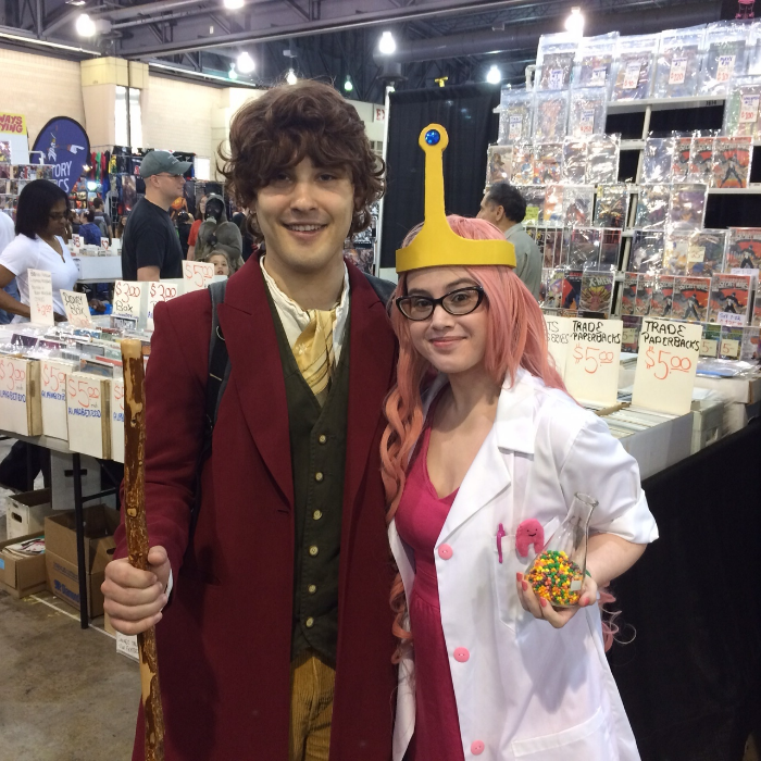 Yours truly with a super sweet Bilbo! I want his coat.
