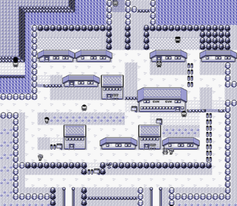 I know it's just a Game Boy game, but calling this a city is really going out on a limb.