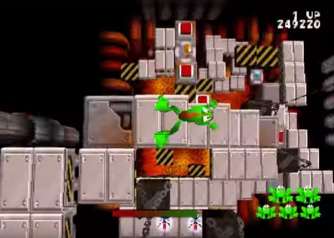 Climbing extremely vertical stages like this one was where the superhop ability game in handy.