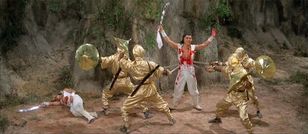 An early scene of the Gold ninjas kicking Alliance ass