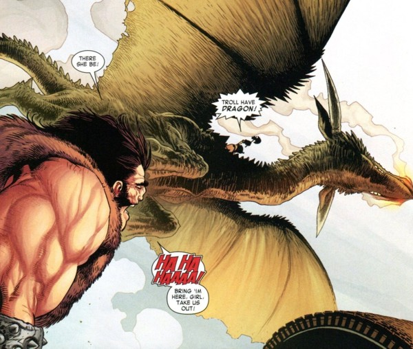"""Marvel's version of """"How to Train Your Dragon,"""" starring Troll."""