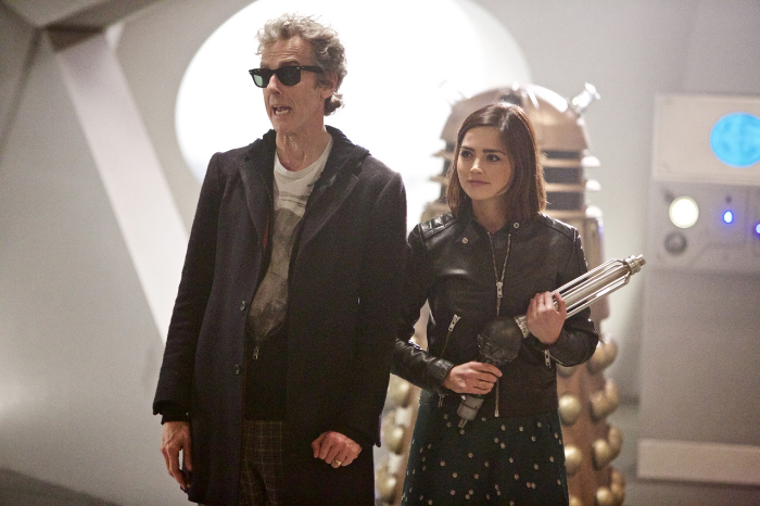 Just the Doctor with Clara Oswald in the TARDIS