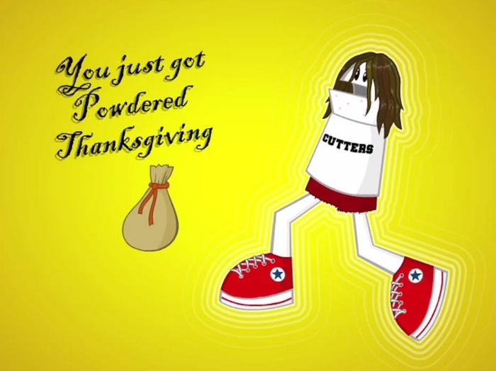 Not sure I want to know what powdered Thanksgiving is...