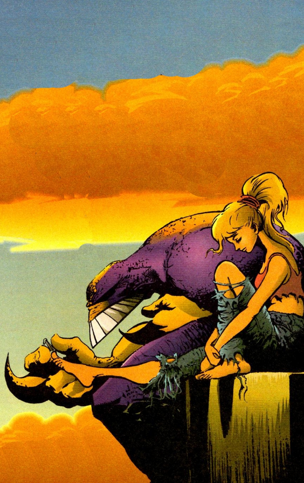 Sam Keith has a unique way of capturing beautiful moments, which isn't a way ever imagined describing a scene with a purple super hero clipping someone's toenails.