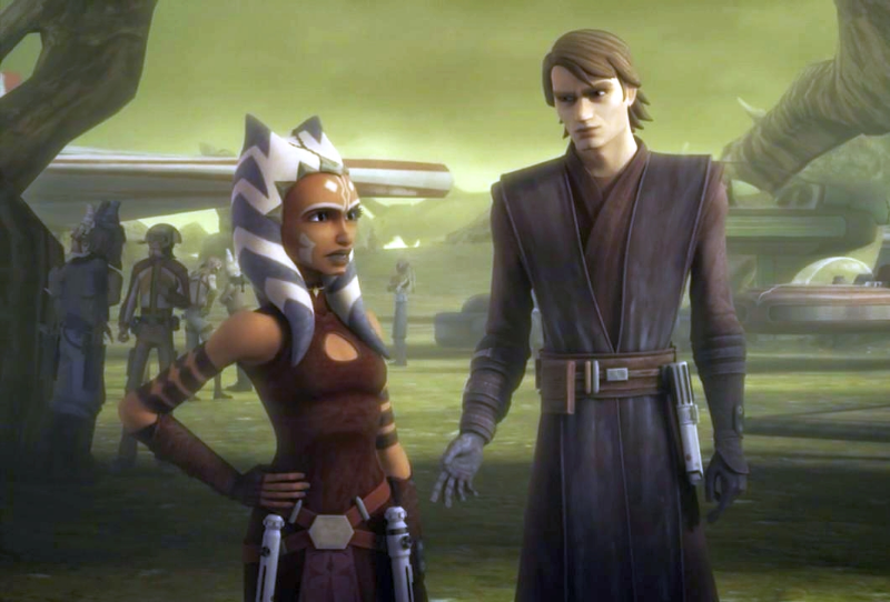 Ashoka standing next to the best version of Anakin Skywalker there is.