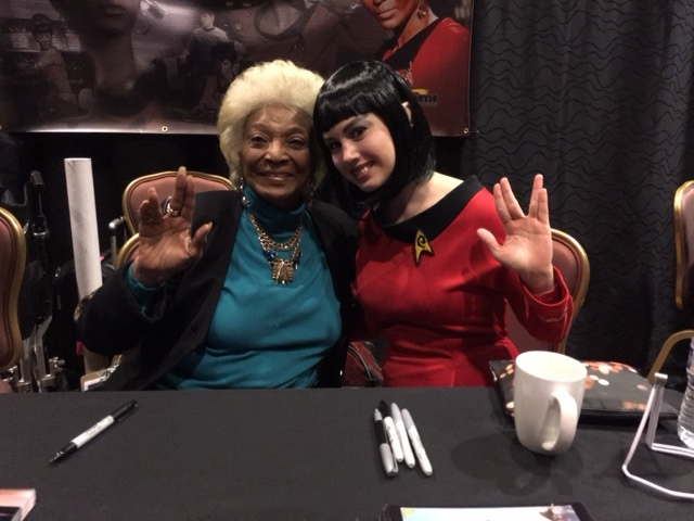 I missed the Cosplay and Disability panel because I was too busy hanging out with Nichelle freakin' Nichols!