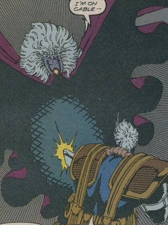 Well this is awkward – Phantazia and Cable use the same hair dye.