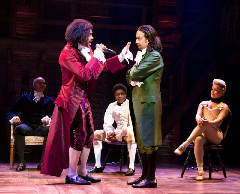 Hamilton and Jefferson face off in one of multiple rap battles