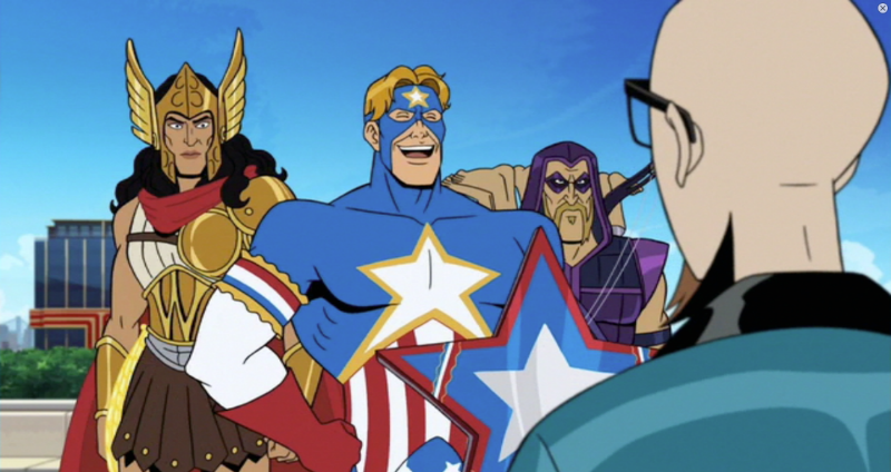 The Crusaders Action League, possibly also the Tick Universe B-Team