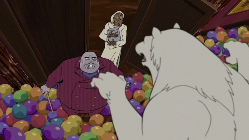 """""""Oh, you're a talented polar bear! All up on yer hindpaws!"""""""