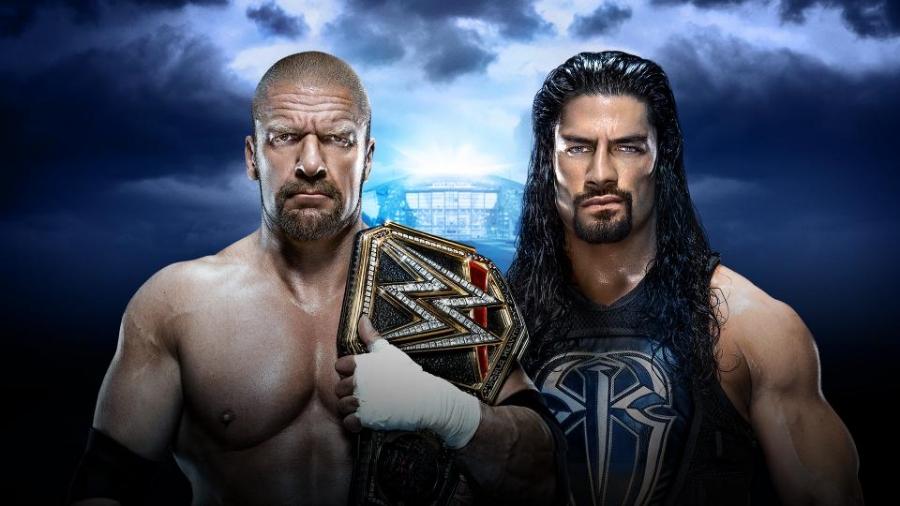 Triple H (C) vs Roman Reigns