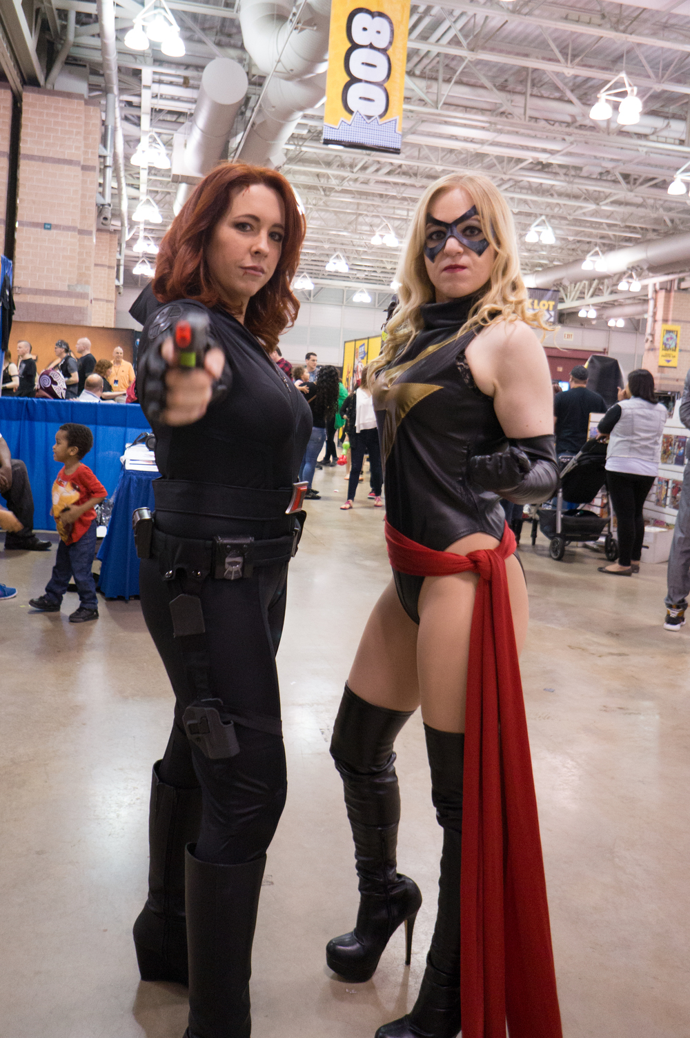 Black Widow and Ms. Marvel