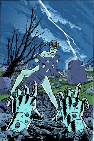 """""""Sometimes, dead is better."""" And, I might add, sexier. (Art by Mike Allred)"""