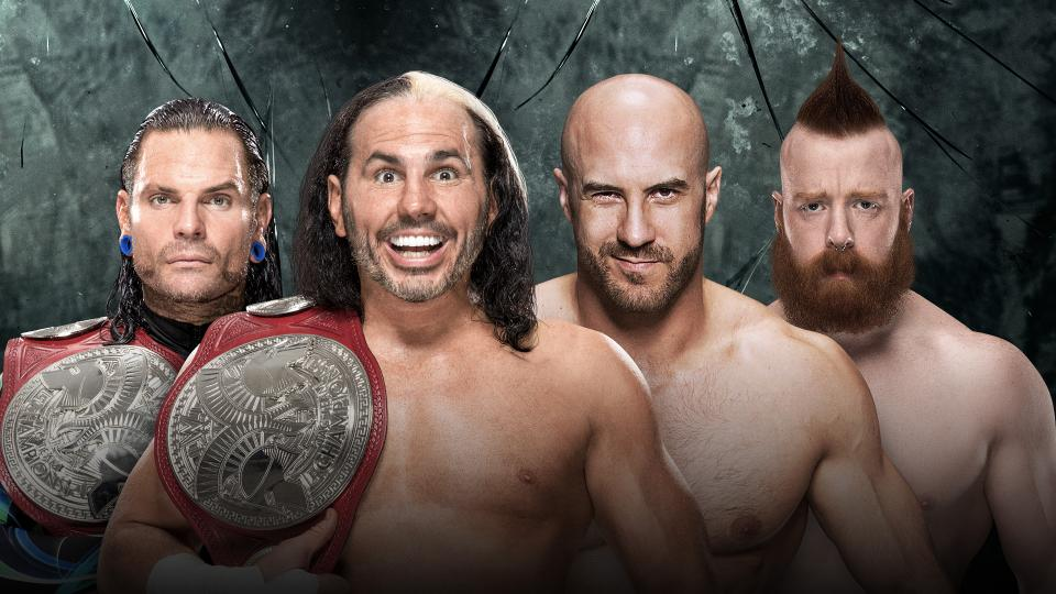 The Hardy Boys vs Sheamus and Cesaro - Raw Tag Team Championship