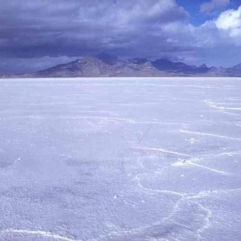 Bonneville Salt Flats. Image by the Bureau of Land Management