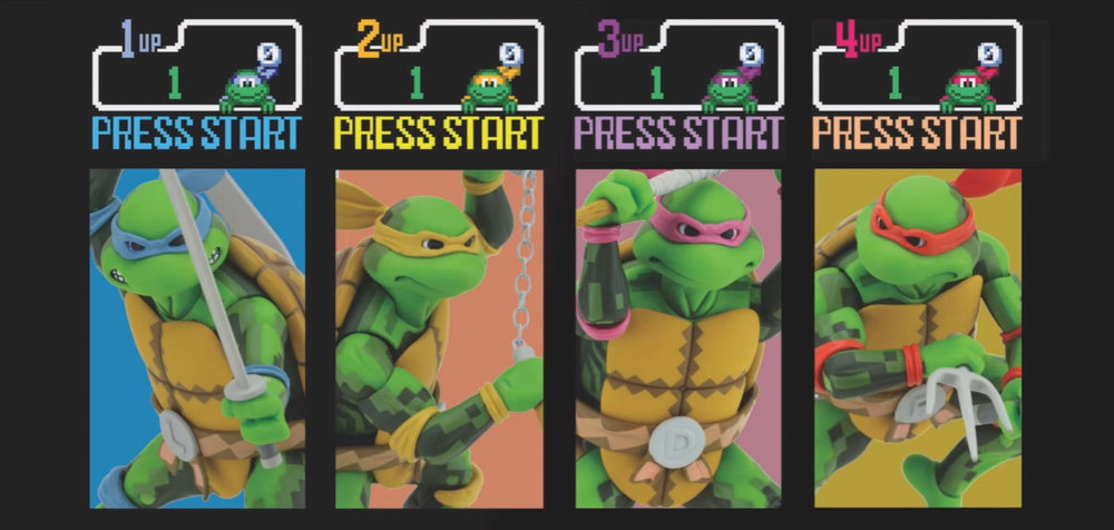 yes... those are toys based on the tmnt arcade game and yes, you do need them