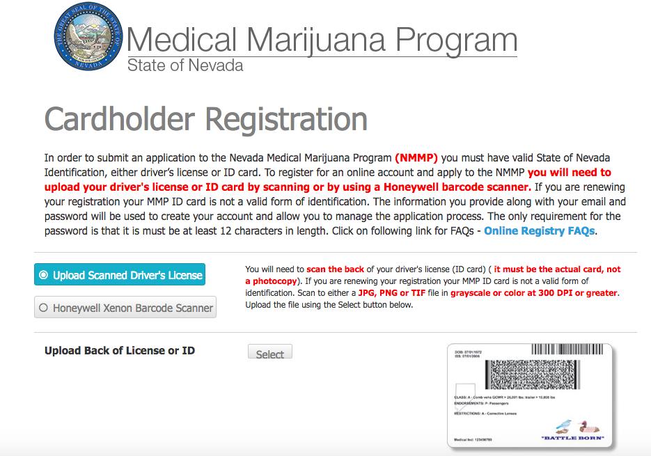 filing for your nevada medical marijuana card online
