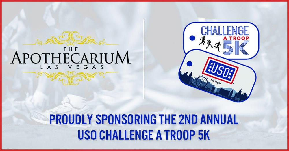 the apothecarium a medical marijuana dispensary sponsors the uso las vegas challenge a troop 5k