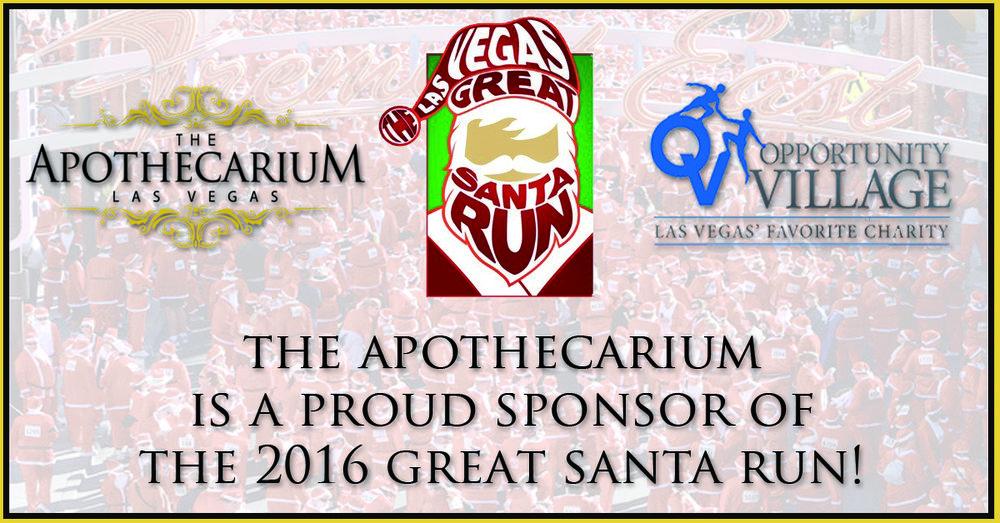 the apothecarium las vegas a medical cannabis dispensary sponsors the great santa run