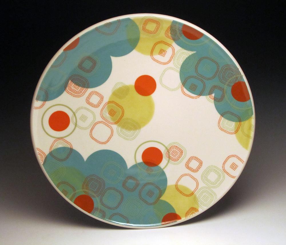 Dot Dot Rounded Square Serving Platter