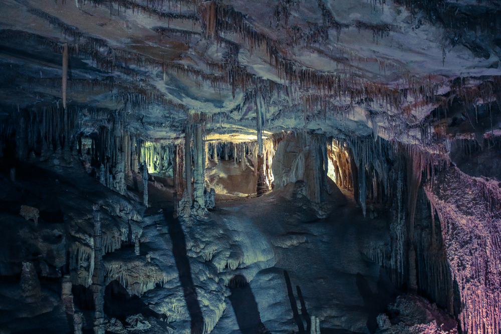 A little exaggeration of the cave colors, but you get the idea! It's a completely different planet underground!