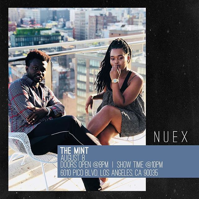 LA! Come see us tonight at @themintla! Doors open at 8PM! #wearenuex #AffectusEP