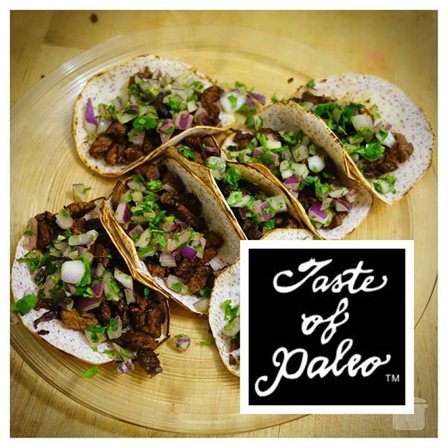 Excited and nervous to announce that I'll be debuting my #grassfed carne asada street tacos on my new tarotillas at the 5th annual @tasteofpaleo on July 8th! This year the event will be in LA near Dodger Stadium so head over and snag some street tacos if you're in the area :)