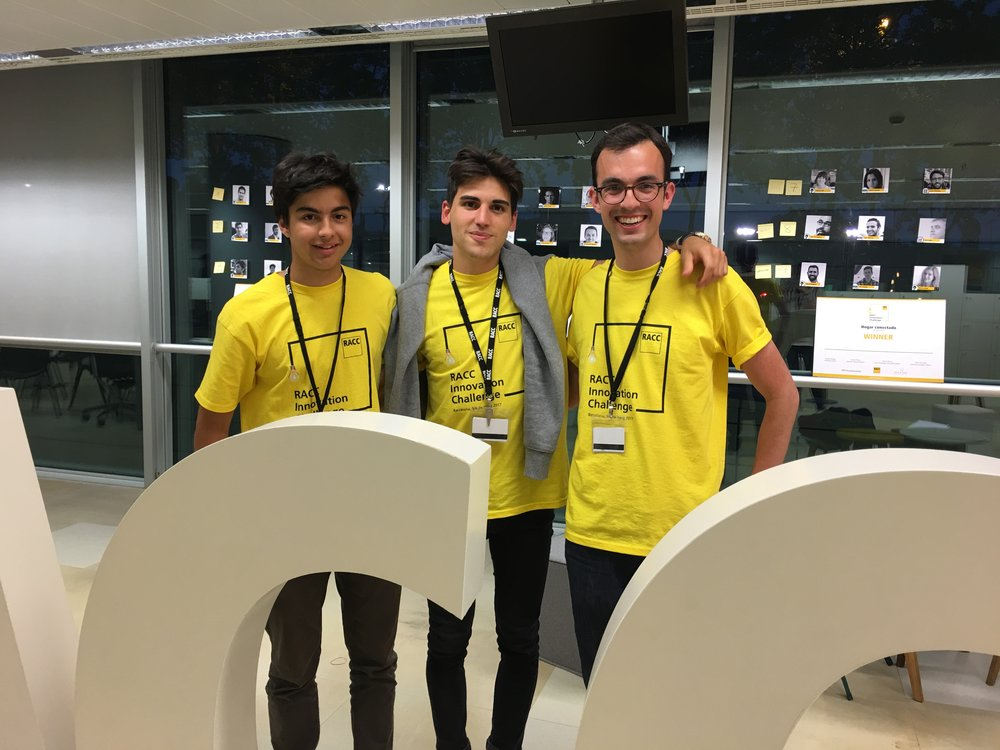 Our team: David Andres, Martí Gisbert and Ethan Parry