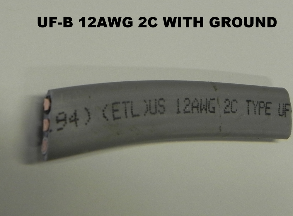 UF-B 12-2 WITH GROUND WIRE — TW CABLE