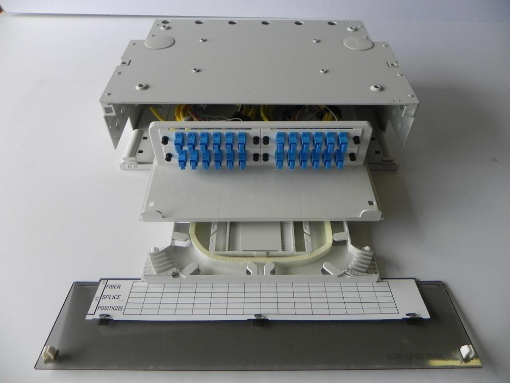 Front Picture OFS 3RU Patch/Splice Shelf - 24 SC