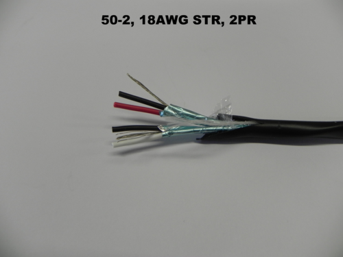 50-2, 18AWG STR, 2 PAIRS, (PAIRS INDIVIDUALLY SHIELD WITH A DRAIN)