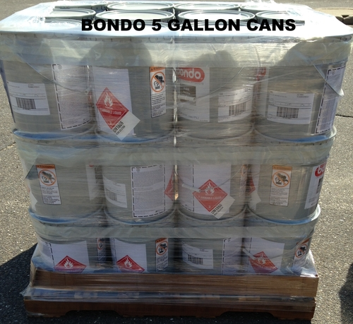 BONDO 1 GALLON AND 5 GALLON CANS