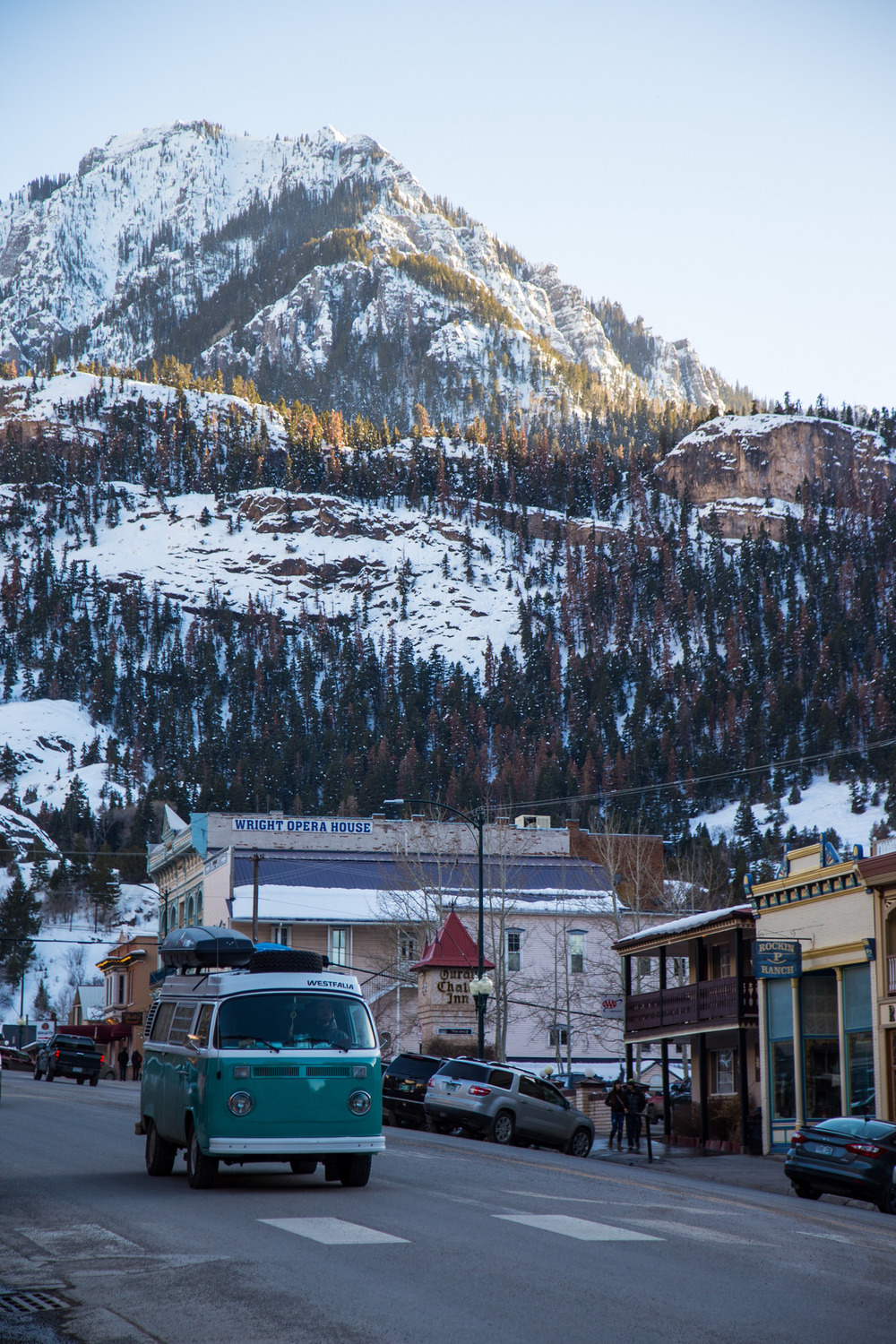 The quaint little mountain town of Ouray, Colorado.