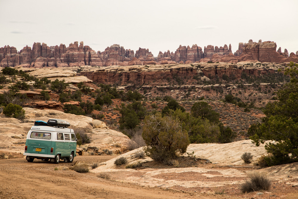 Driving through Canyonlands.